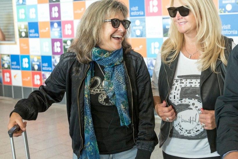 FOTOD | Rockilegendid Bonnie Tyler ja Suzi Quatro saabusid Eestisse