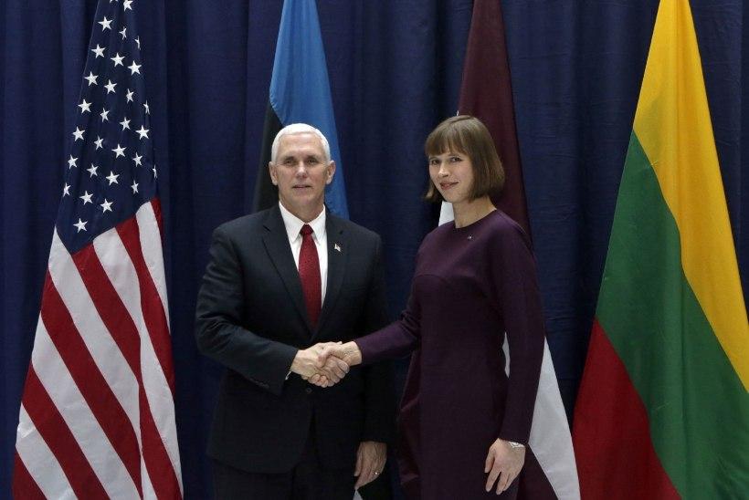USA asepresident Mike Pence trehvab Tallinnas kolme presidenti