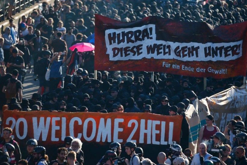 """Trump saabus Hamburgi, protestijad tervitavad: """"Teretulemast põrgusse!"""""""