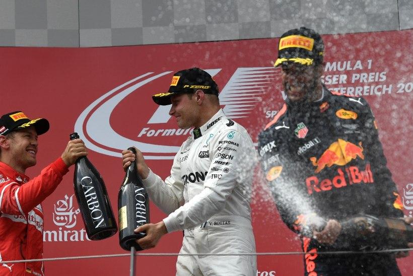 Karjääri teise etapivõidu teeninud Bottas: šampus maitses hästi!