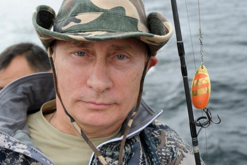 Putin näpistas aega kalapüügiks, pressišeff väitis enne vastupidist