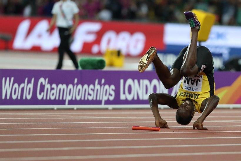 VIDEO   KÕIK! Usain Bolti karjäär lõppes keset 100 meetri staadionisirget