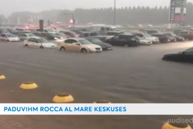 TV3 VIDEO | USKUMATUD KAADRID! Äikesevihm uputas kaubanduskeskuse ja autoparkla!