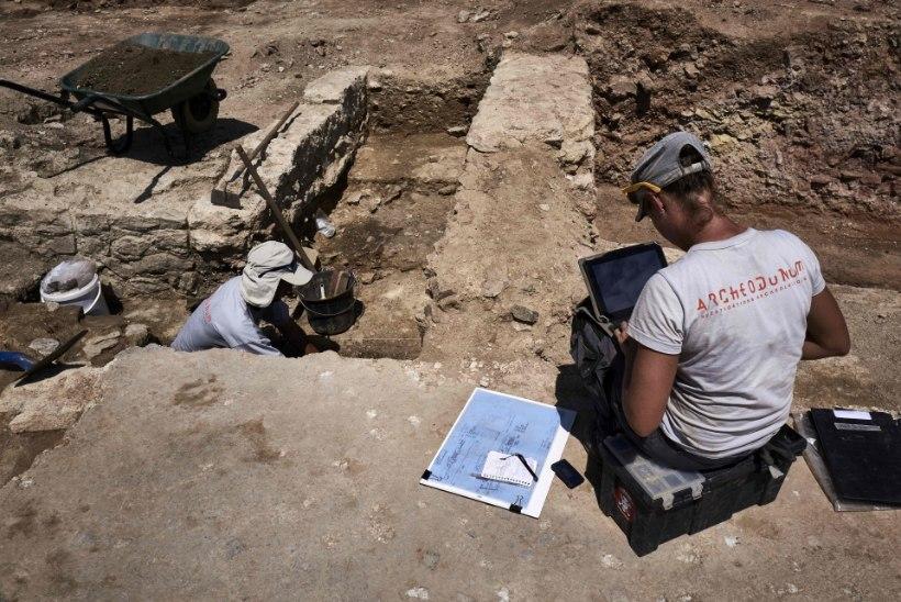 """FOTOD   Prantsusmaa arheoloogid avastasid Lyoni lähistelt """"väikese Pompei"""""""