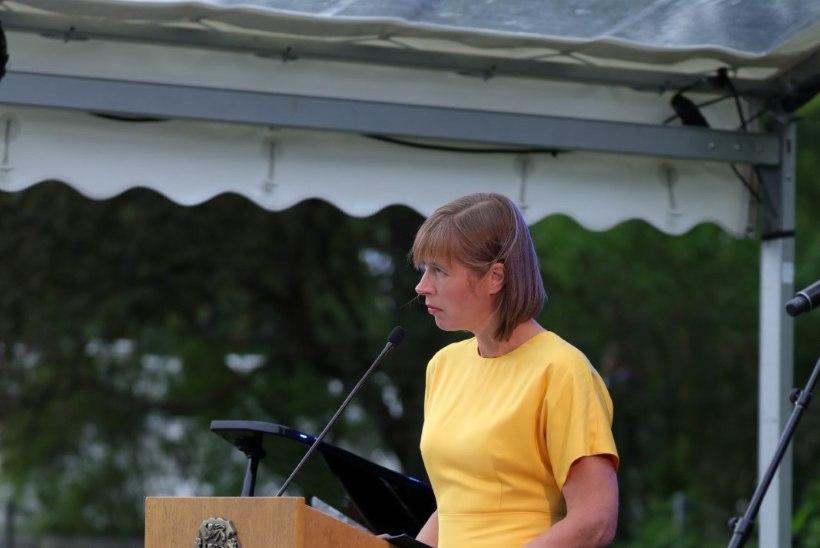 """President Kersti Kaljulaid: """"Jätkem rahule nii vanad konfliktid kui ka need, mida pole üldse olemas olnudki ja keskendugem Eesti tulevikule"""""""