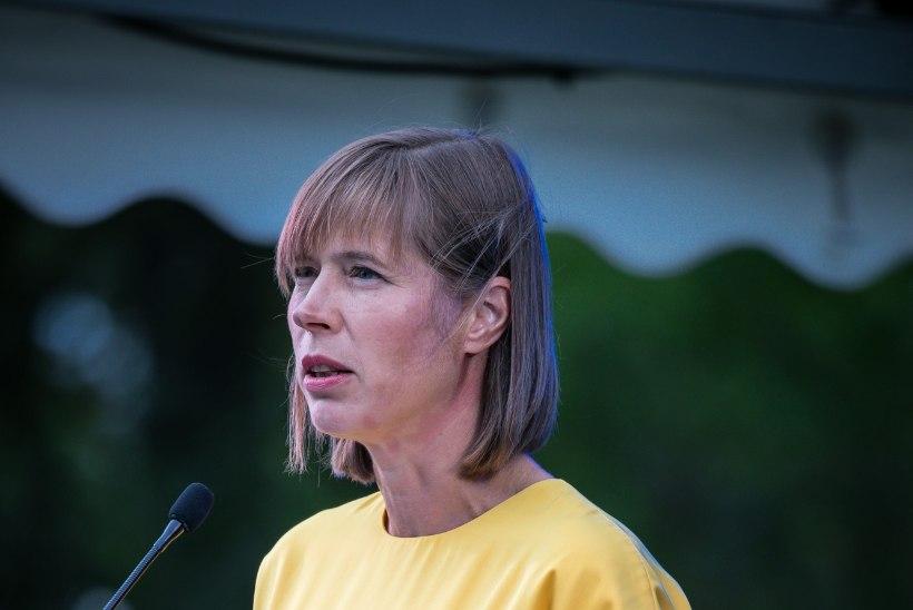 GALERII   President Kersti Kaljulaidi esimene taasiseseisvumispäeva vastuvõtt