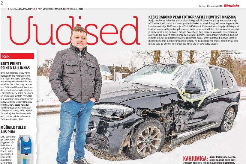 ODÜSSEIA: riik jättis politsei läbitulistatud uue auto omaniku hüvitiseta