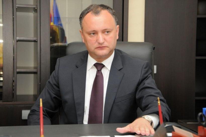 Moldova president keelas Euroopa päeva tähistamise