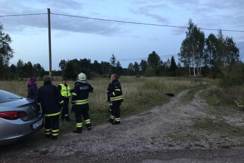 FOTOD SÜNDMUSKOHALT | Motodeltaplaan kukkus Kuusiku lennuvälja lähedal alla ja süttis: kaks inimest hukkus