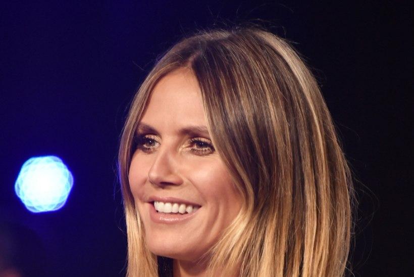44aastase Heidi Klumi sahvtine dekoltee mõjub pimestavalt!