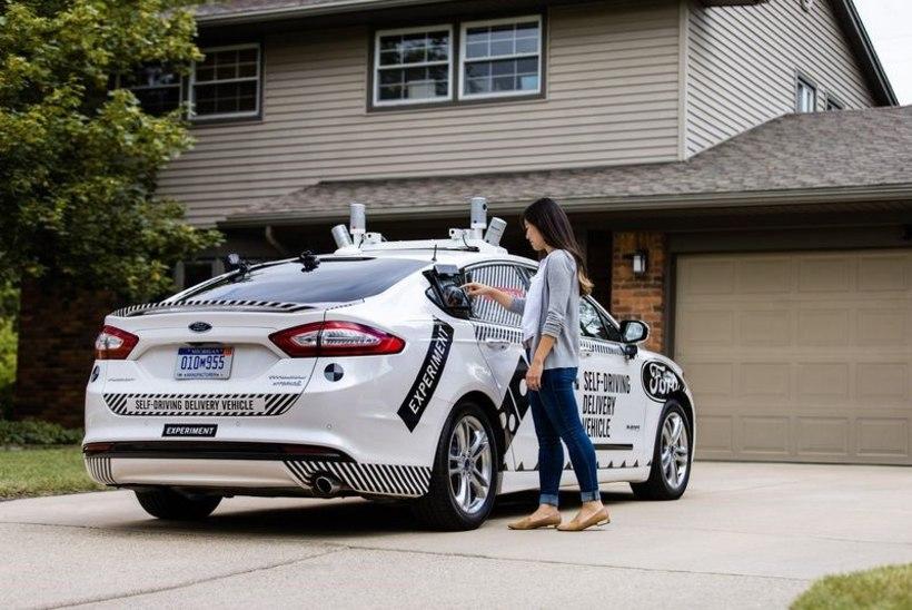 Söögikoht ja Ford katsetavad isesõitvad pitsa-autosid