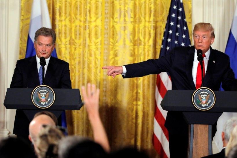 FOTOD   Soome president kohtus Valges Majas Trumpiga