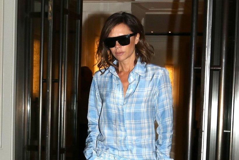 Trendilooja Victoria Beckham lehvib linna peal eri värvi pidžaamades