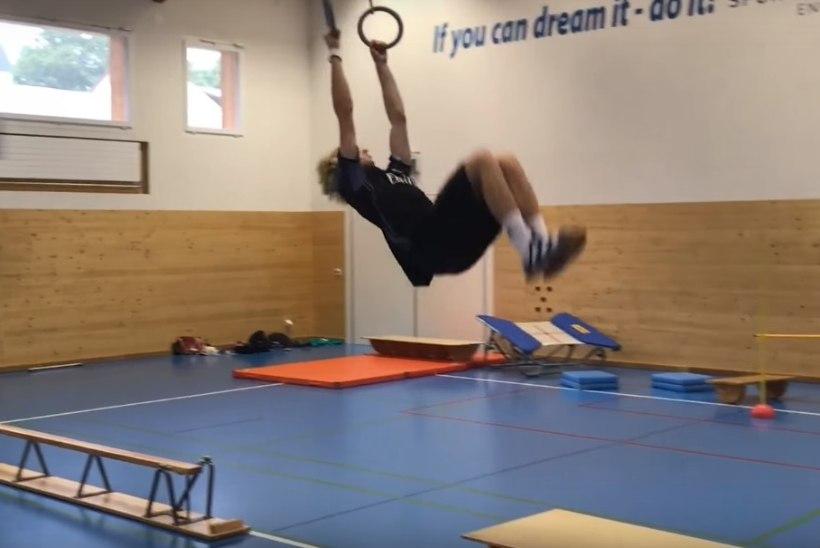MÜSTILINE VIDEO | Olümpiaks valmistuv suusataja näitab takistusrajal uskumatut koordinatsiooni ning tasakaalu