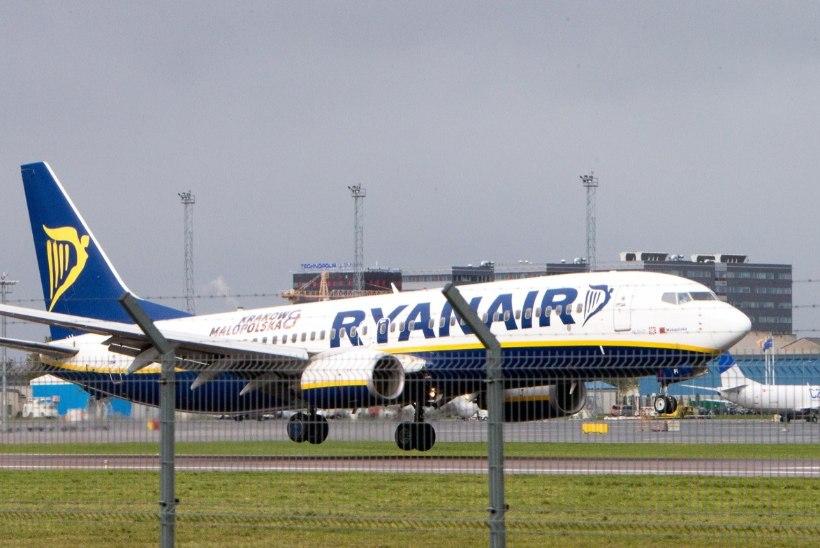 AMETLIK: homne Ryanairi London-Tallinn lend tühistati