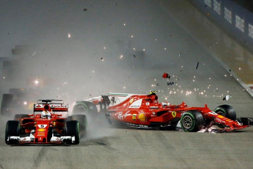 Draamatiline Singapur: Ferraride kokkupõrge stardis mängis trumbid Hamiltonile ja Mercedesele