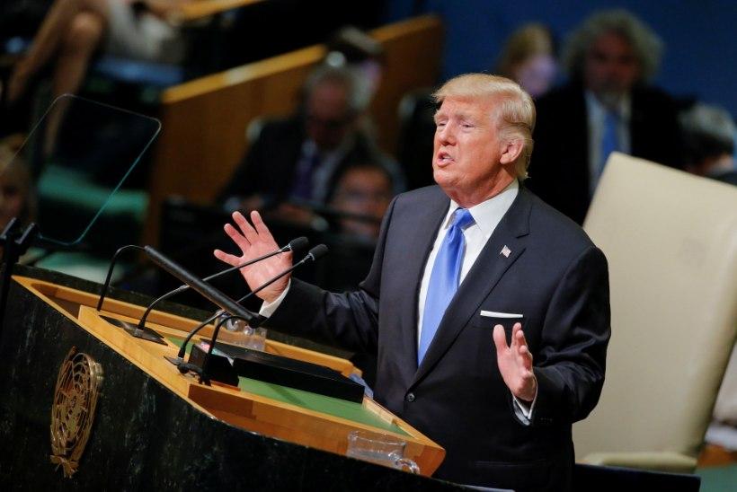 """Trump ÜRO ees: """"Kui peame end kaitsma, ei jää muud üle, kui Põhja-Korea hävitada!"""""""