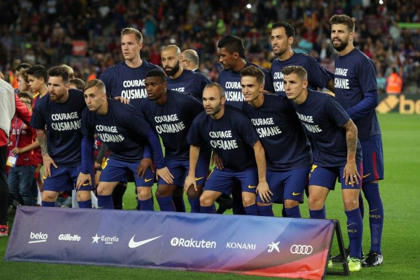 Vigastatud Dembelele ilusa žesti teinud Barcelona meeskond langes internetis mõnituse osaliseks