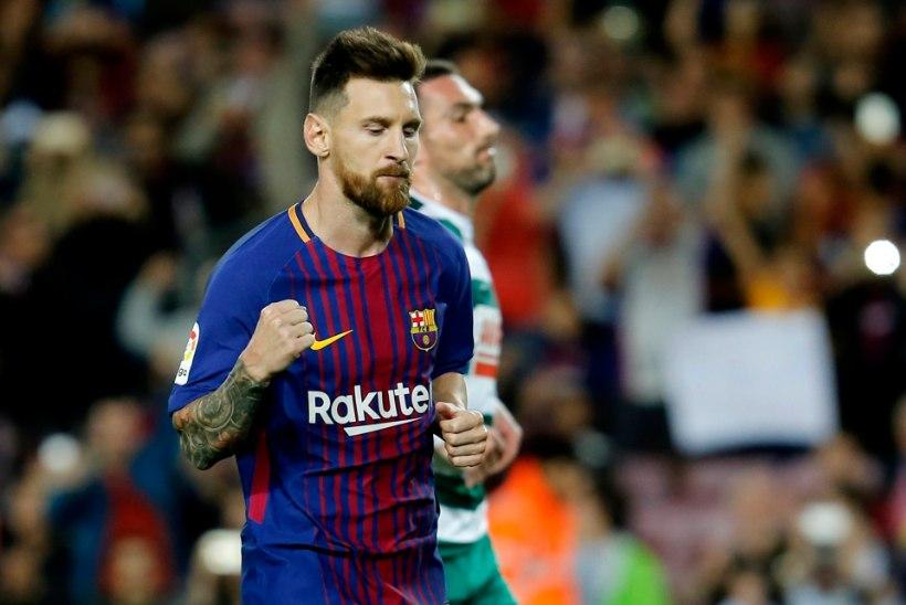 VIDEO | Barcelona sai liigas püssi paukuma, Messi jõudis nelja tabamusega juubelini