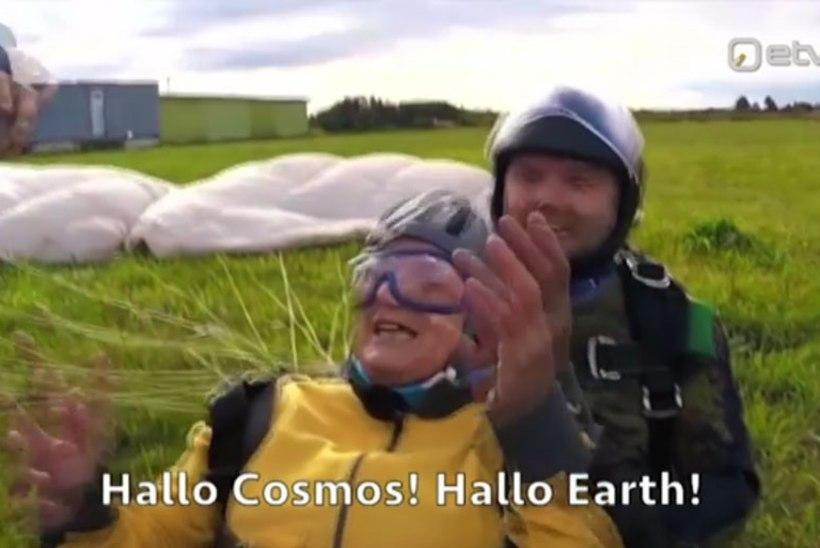 ERRi VIDEO | Imre Sooääre ema tegi teoks ammuse unistuse ja hüppas langevarjuga