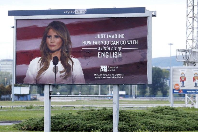 JÕUDEMONSTRATSIOON: USA esileedi Melania Trump ähvardas Horvaatia keeltekooli kohtuga