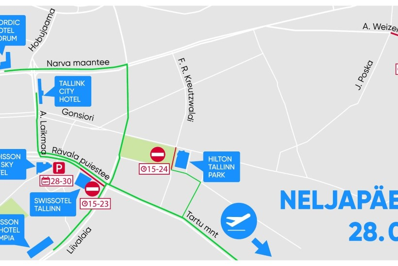 KAARDID: vaata, milliseid kohti Tallinnas neljapäeval ja reedel vältida!