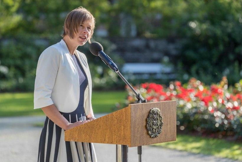 FOTOD   KUIDAS MEELDIB: president Kaljulaidil veel lühem soeng