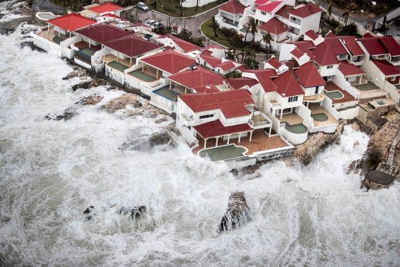 Irma lõhkus kuulsat St Maarteni lennujaama