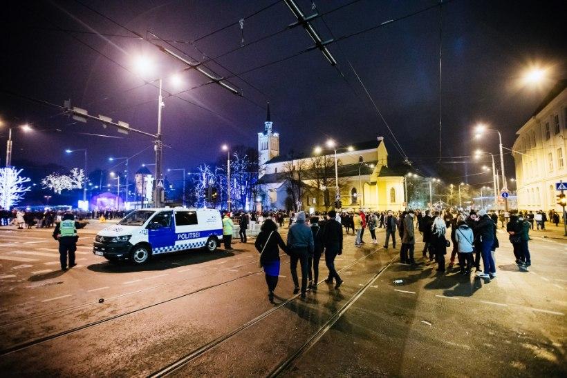 Aastavahetus oli politseile töine, kuid suuremate vahejuhtumiteta