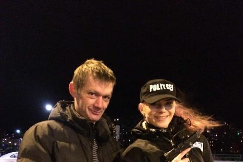 FOTO | Prooviabielu-Helen kehastus muusikavideo võttel naispolitseinikuks
