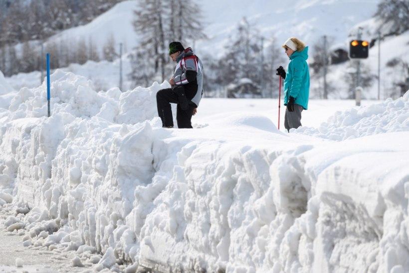 Alpi kuurordis lumelõksus viibiv eestlane: kuigi püsib laviinioht, siis inimesed paanikas pole