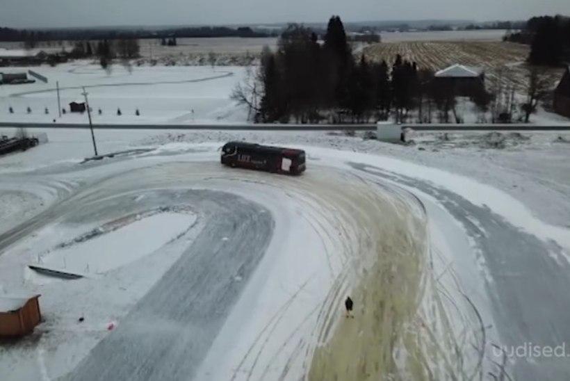 TV3 VIDEO | Liinibussijuhid panid oma oskused proovile ekstreemsel libedarajal