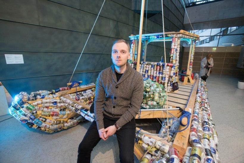KUNSTNIK: sõitsin tuhandetest õllepurkidest ehitatud laevaga Helsingist Tallinna