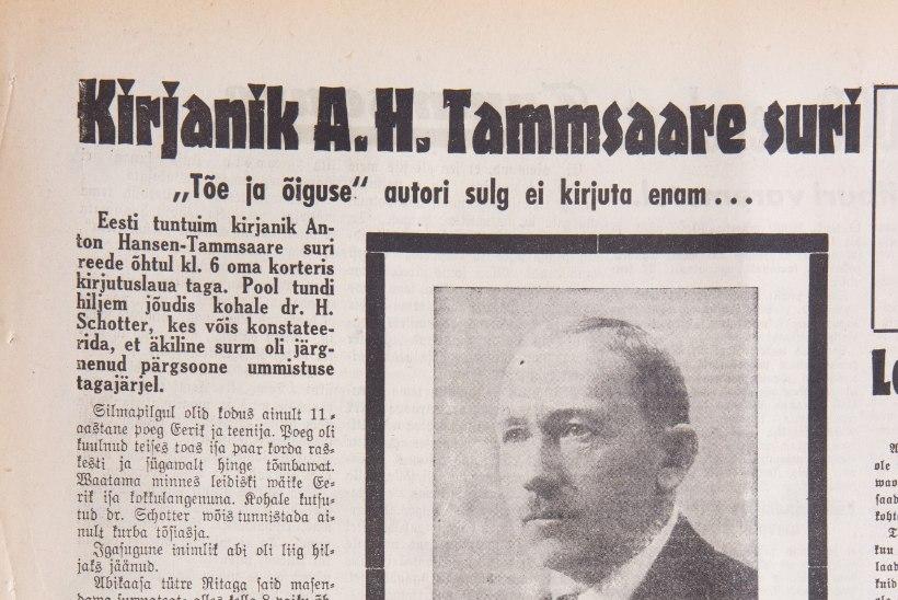 ÕL ARHIIV | Mida tegi Tammsaare oma elu viimasel päeval?