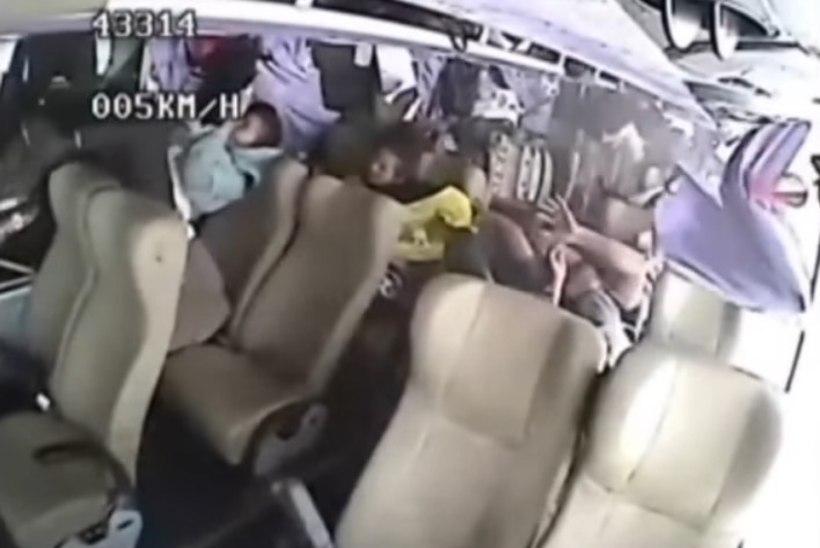 TEMPEL MÄLLU: vaata, mis juhtub, kui õnnetuse ajal on bussis turvavöö kinnitamata