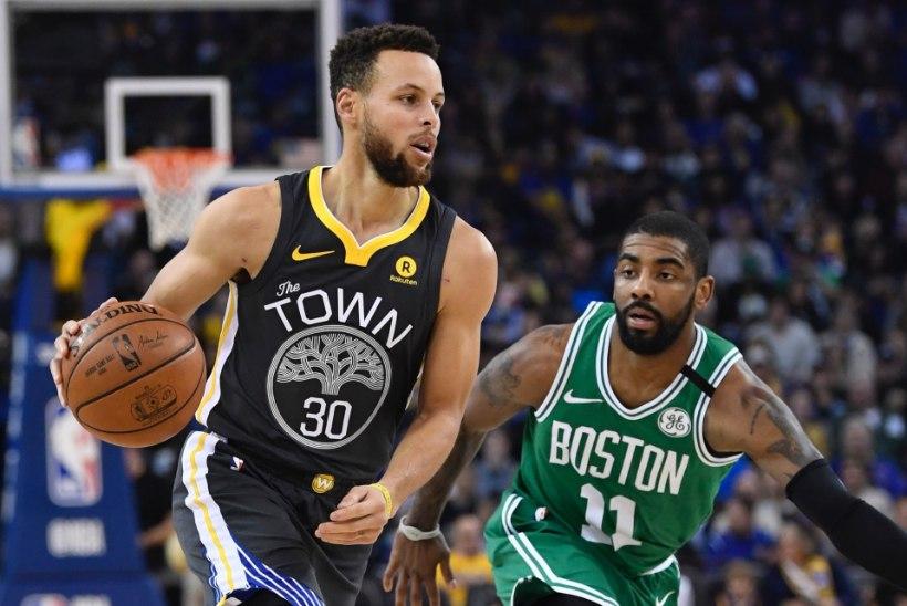 VIDEO | Stephen Curry ja Kyrie Irving pakkusid võimsa etenduse, Warriorsi staarilt 49 punkti