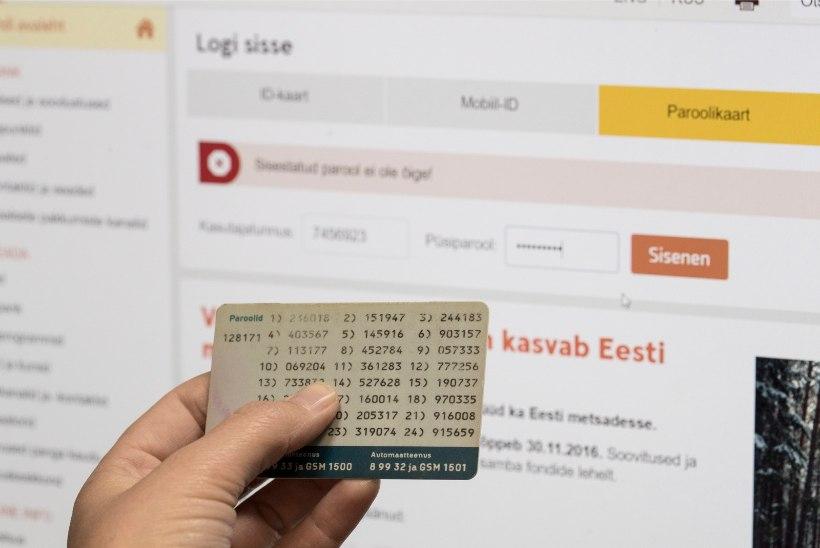 Swedbank lõpetab paroolikaartide väljastamise