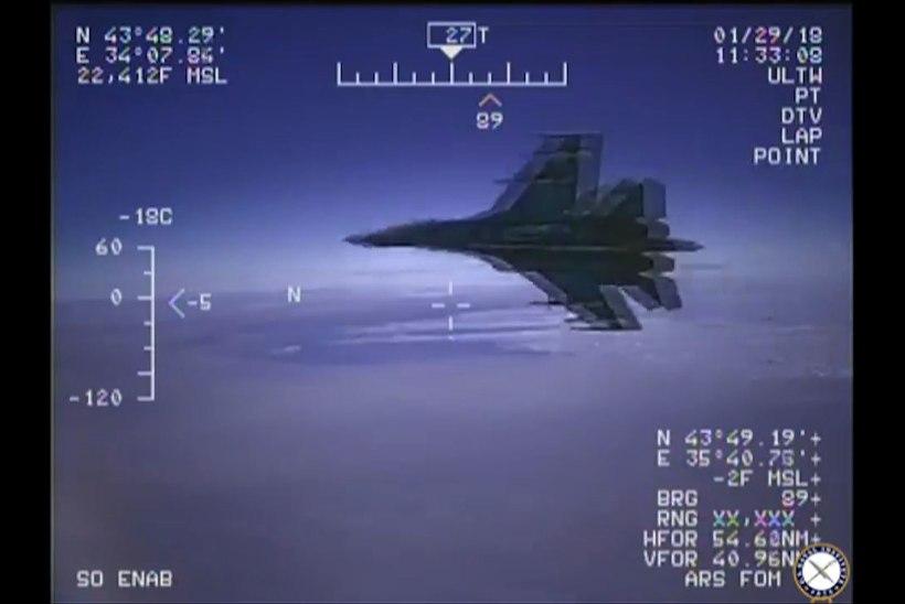 VIDEO | USA avaldas kaadrid Vene hävitaja ohtlikust lähenemisest nende spioonilennukile