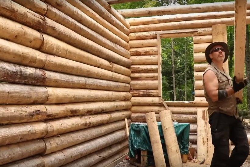 KIIRENDATUD VIDEO: vaata, kuidas mees ehitab metsa täiesti nullist võimsa palkonni