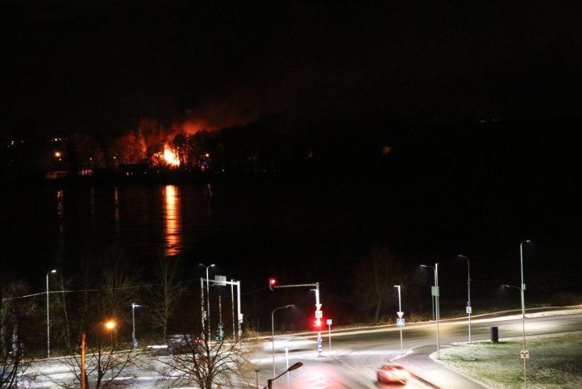 Harku järve ääres põleb mahajäetud maja