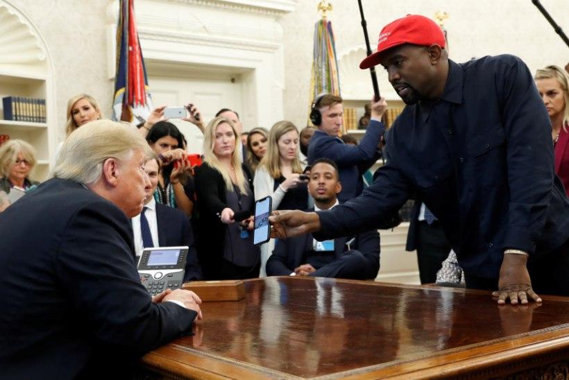 """""""See oli alles midagi..."""" Kanye Westi monoloog Valges Majas jättis isegi Trumpi sõnatuks"""