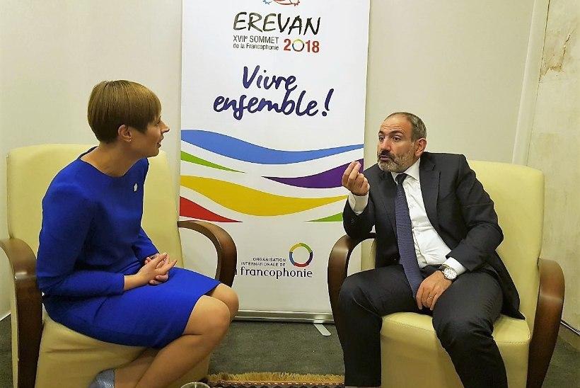 FOTO | President Kaljulaid kohtus Armeenia peaministriga