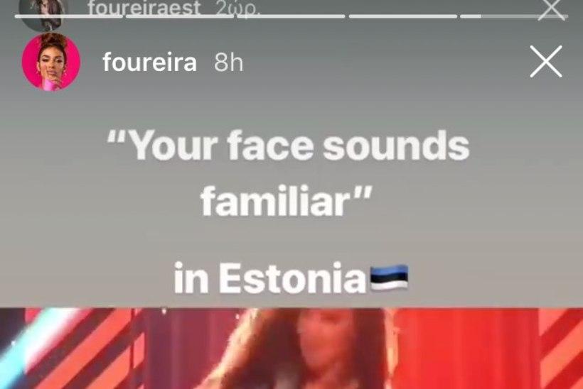 FOTOD | Võimas! Liis Lemsalu eilset näosaate esitust nägi ka Foureira ise