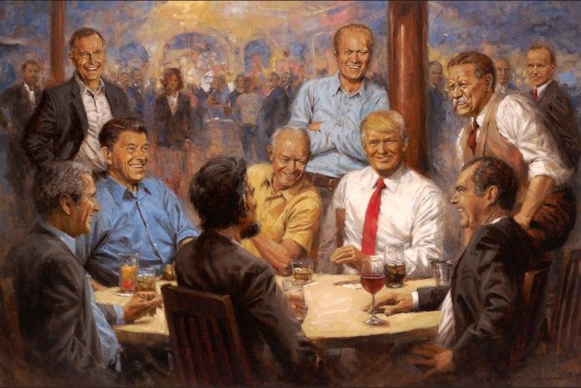 Donald Trump maaliti üles koos teiste presidentidega