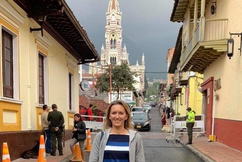 FOTOD | Ieva Ilves säras Colombias sinimustvalges kleidis