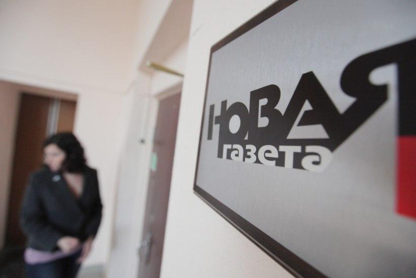 Novaja Gazeta ajakirjanikke hirmutatakse leinapärgade ja verise oinapeaga