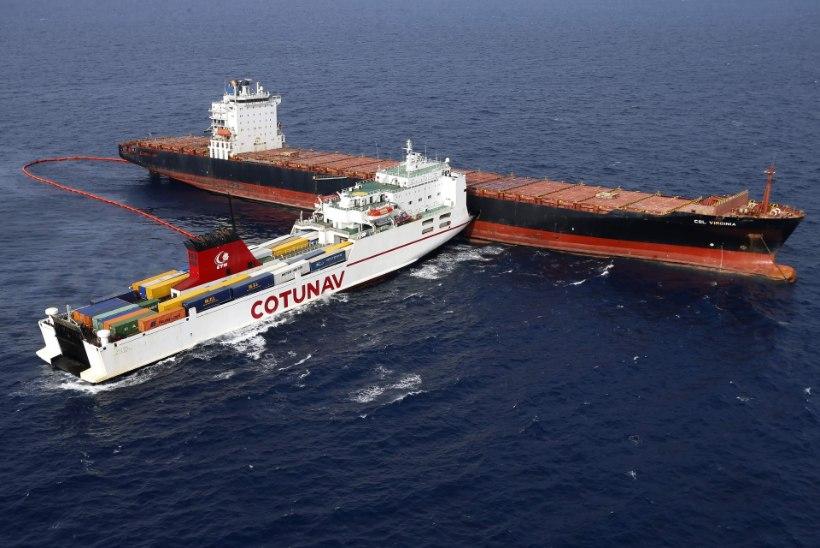 Laevaõnnetuse õlireostus jõudis Prantsuse Riviera randadele