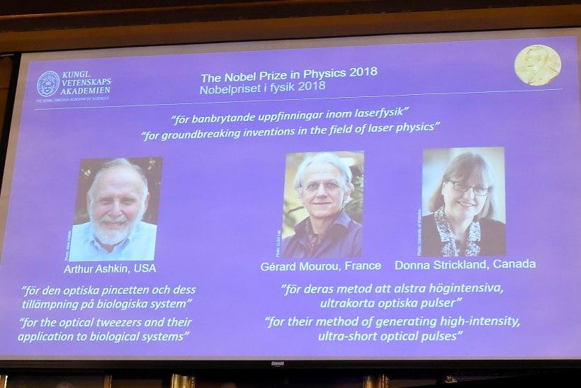 Nobeli füüsikapreemia saavad laseriuurijad
