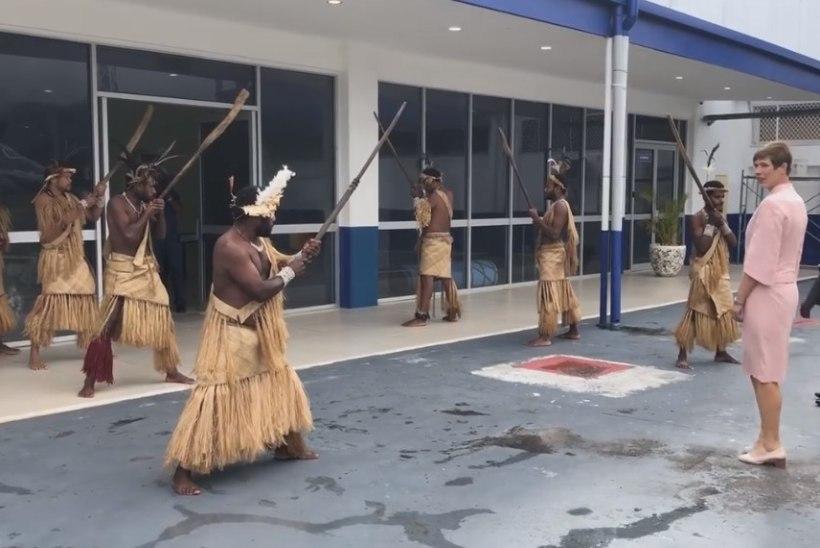 VIDEO   Kaljulaid sai Vanuatu töövisiidil omapärase tervitustseremoonia