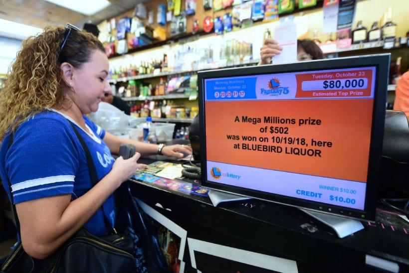 Kaks dollarit maksva lotopiletiga võideti 1,6 miljardit